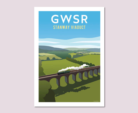 GWSR Stanway Viaduct Poster