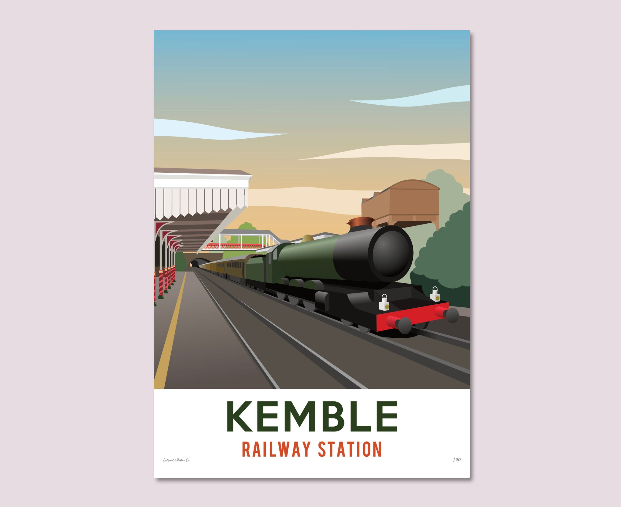 Kemble Railway Station Poster – Limited Edition