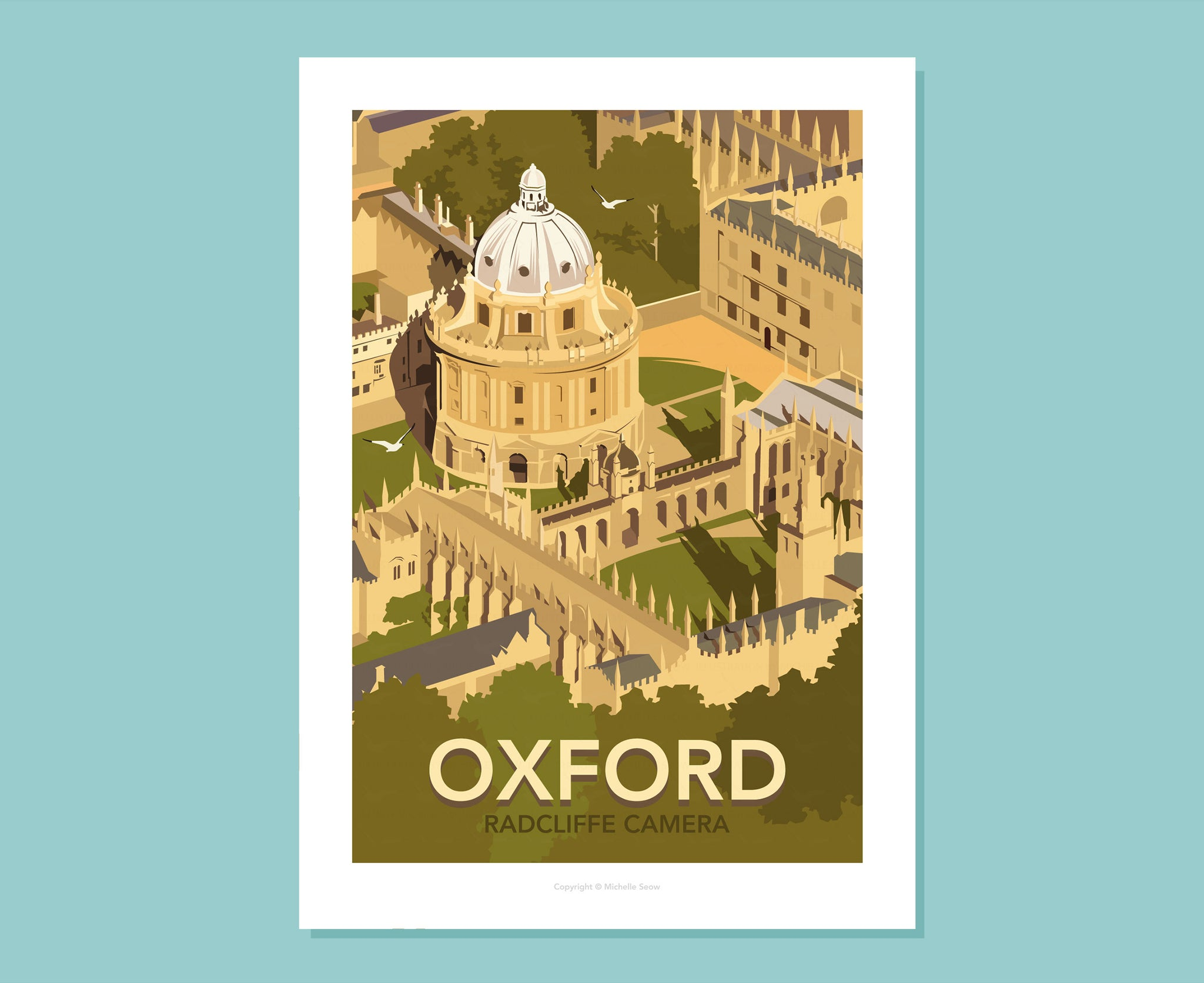Oxford Radcliffe Camera Poster