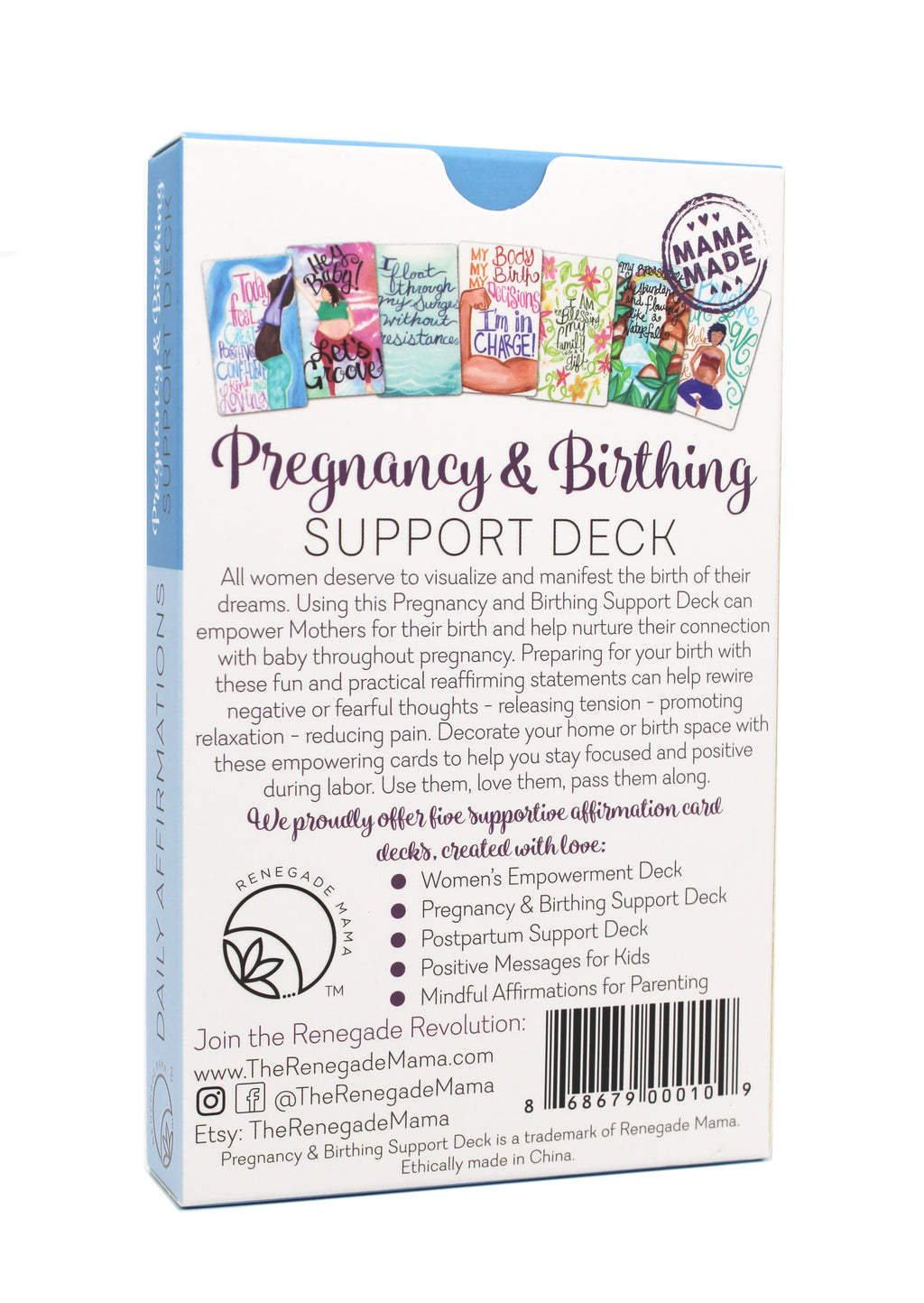 PREGNANCY & BIRTHING AFFIRMATION CARDS