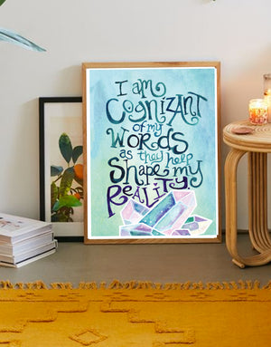 Words Shape Reality Art