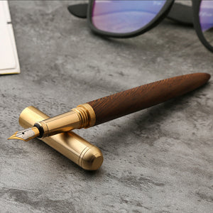 Rosewood and Brass vintage Fountain Pen