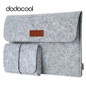 "Wool felt laptop case for 13""- included mouse pouch - Sumi"