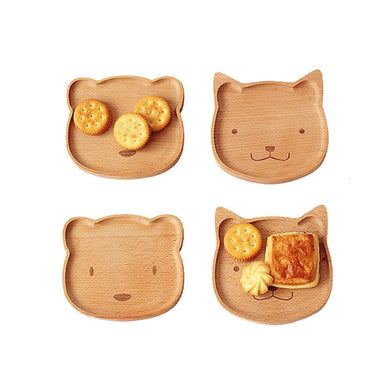 Wood Dinner Plate for Kids