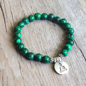 Malachite Spiritual Beaded Bracelet