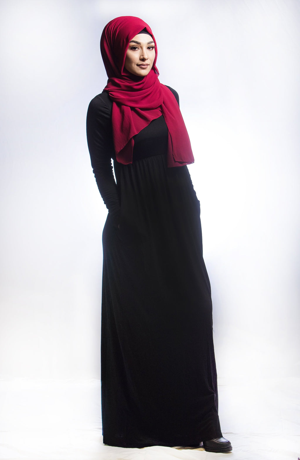 Black Maxi Dress - SARALIYA
