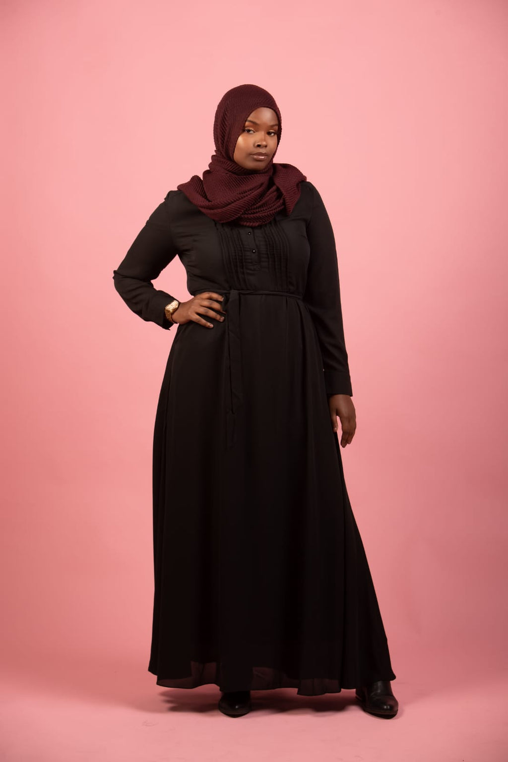 Black Hanna Dress - SARALIYA