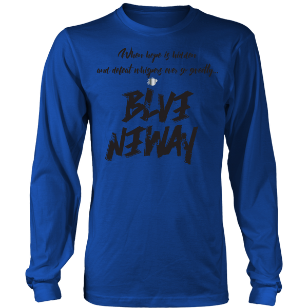 Believe Anyway Be Bold Unisex Big Print Long Sleeve Shirt - KA Inspires