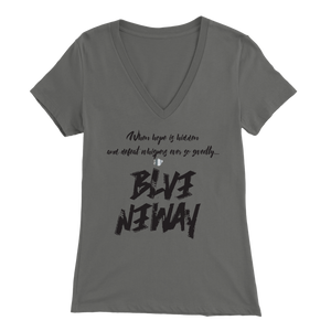 Believe Anyway Be Bold Womens V-Neck - KA Inspires