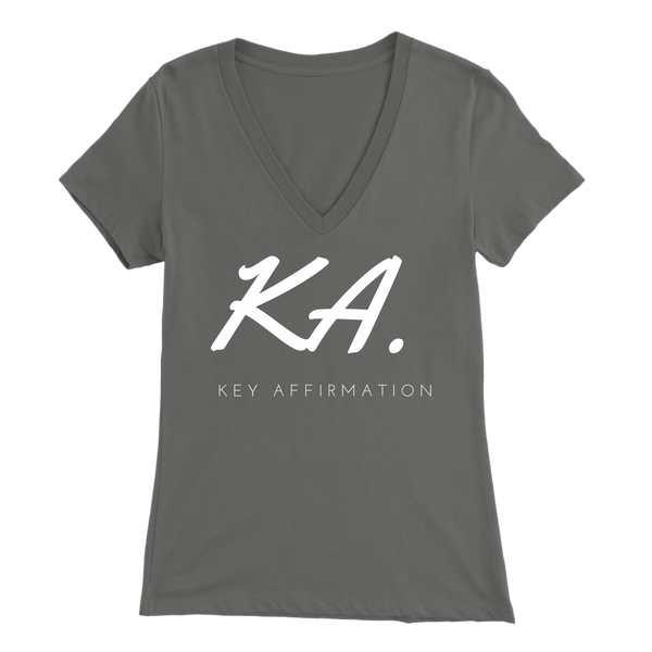 Key Affirmation Womens Sliming V-Neck