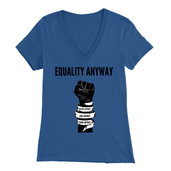 Equality Anyway Womens Sliming V-Neck