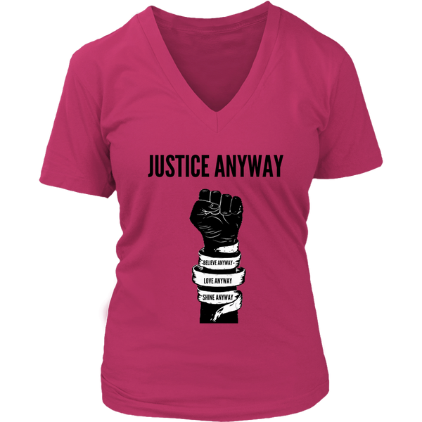 Justice Anyway Womens  V-Neck