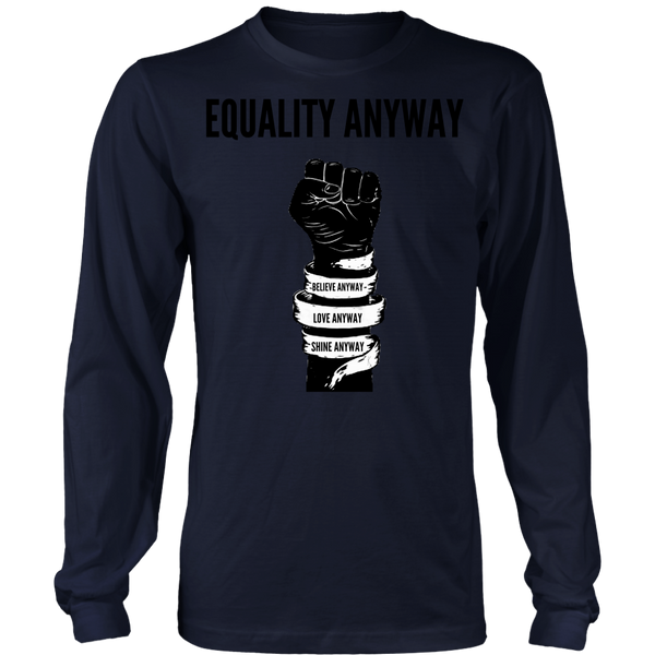 Equality Anyway Unisex Pig Print Long Sleeve Shirt