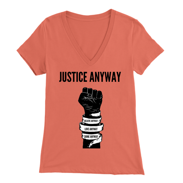 Justice Anyway Womens Sliming V-Neck