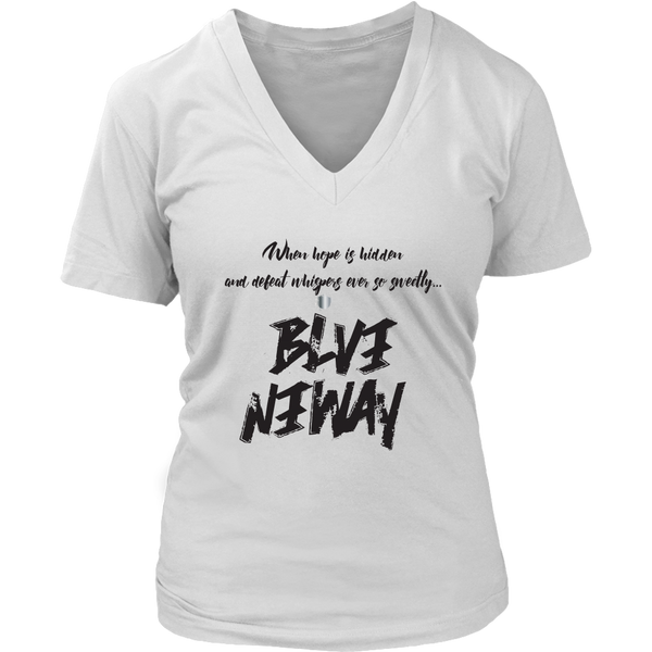 Believe Anyway Be Bold Womens Sliming V-Neck - KA Inspires