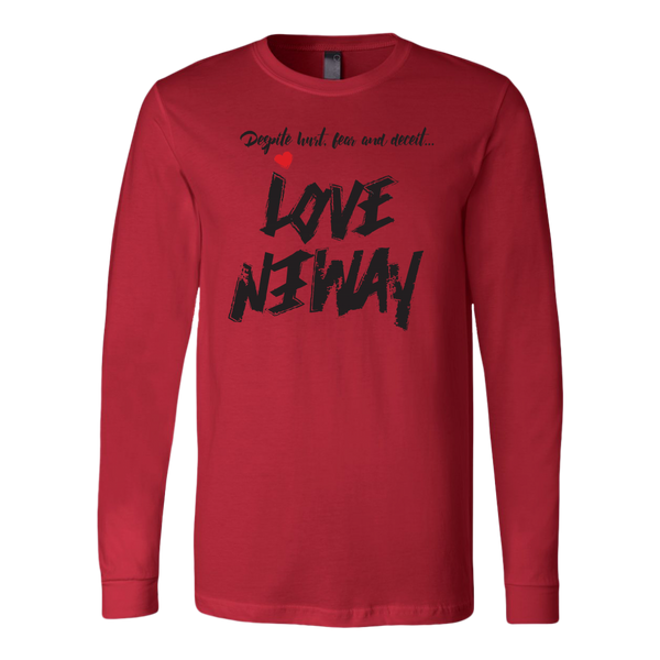 Love Anyway Despite Naysayers Mens Long Sleeve Shirt - KA Inspires