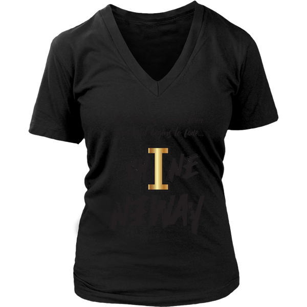 Shine Anyway Everyday Womens Sliming V-Neck - KA Inspires