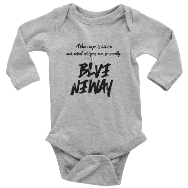 Believe Anyway Long Sleeve Baby Bodysuit - KA Inspires