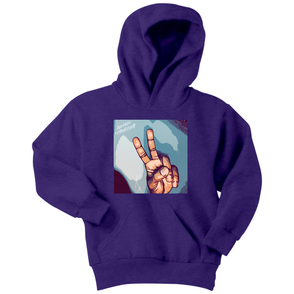 Peace Negativity I Said Good Day Youth Hoodie