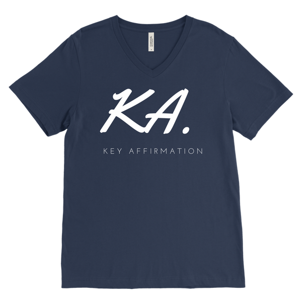 Key Affirmation Mens V-Neck