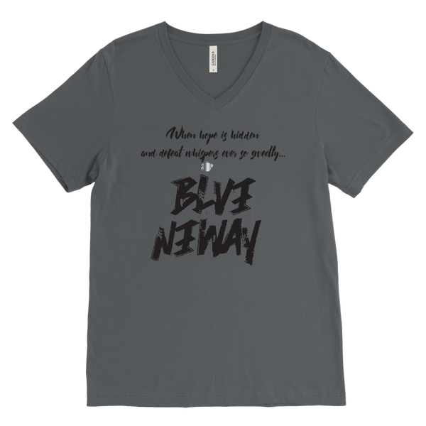 Believe Anyway Be Bold Mens V-Neck - KA Inspires