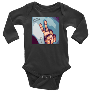 Peace Negativity I Said Good Day Long Sleeve Baby Bodysuit