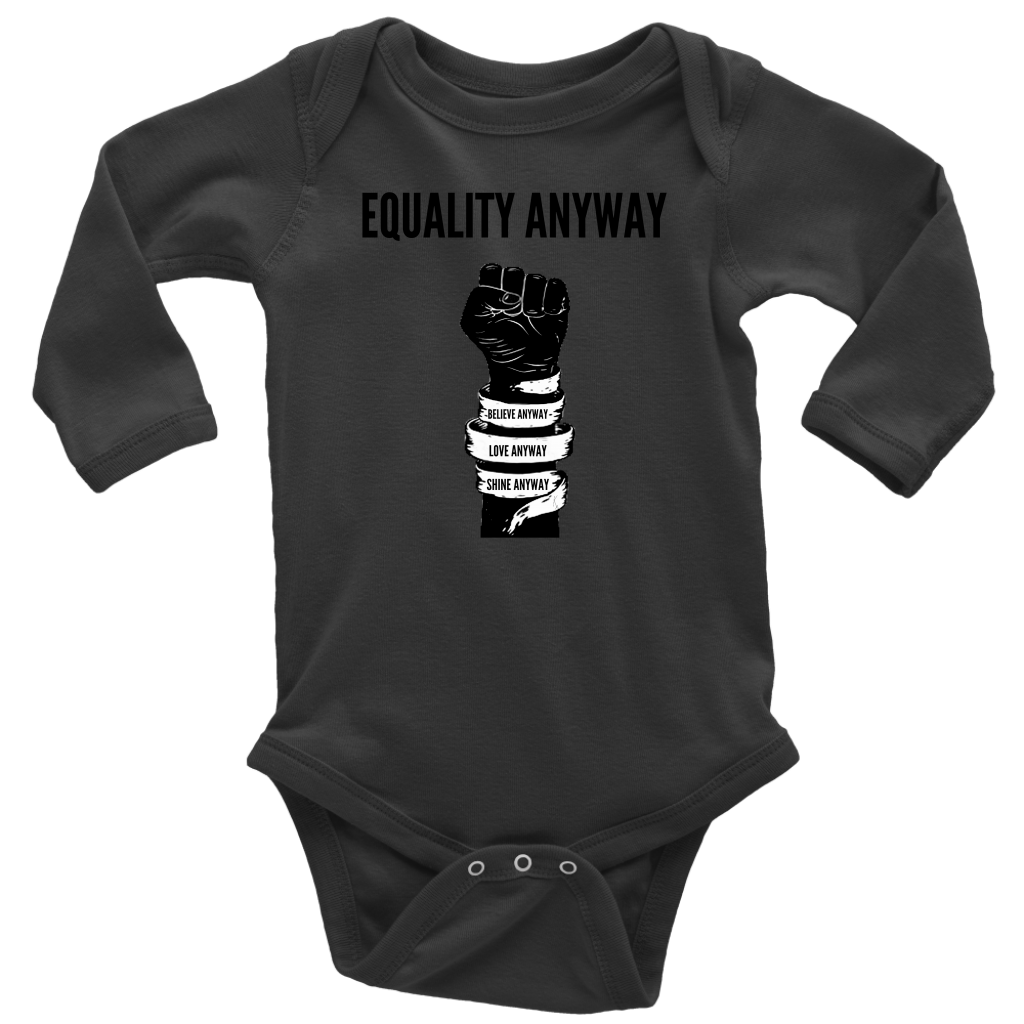 Equality Anyway Long Sleeve Baby Bodysuit