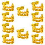 10-Pack of Yellow Plastic Keck Clips