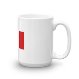Canadian Marijuana Leaf Flag Mug