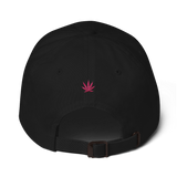 Pink Pot Leaf Dad Cap