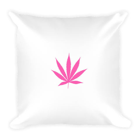 Pink Pot Leaf Pillow