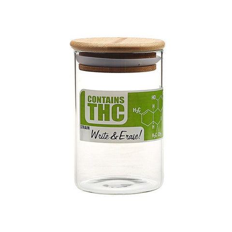 Sealed Glass THC Herb Jar