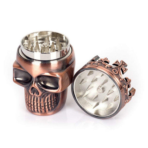 Portable Metal Skull Herb Grinder