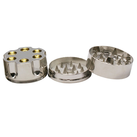 3-Layer Revolver Bullets Herb Grinder