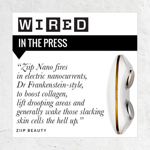 ZIIP Beauty reviewed in Wired Magazine