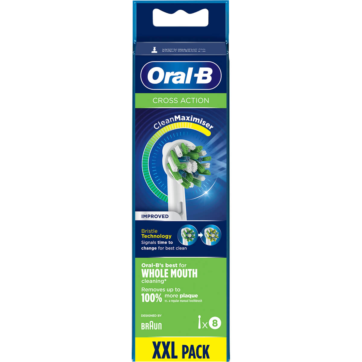 Oral-B Cross Action Power Toothbrush Refill Heads (8 Pack)