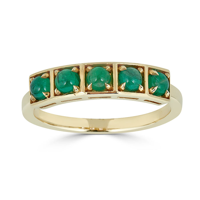 Stack Ring Emerald