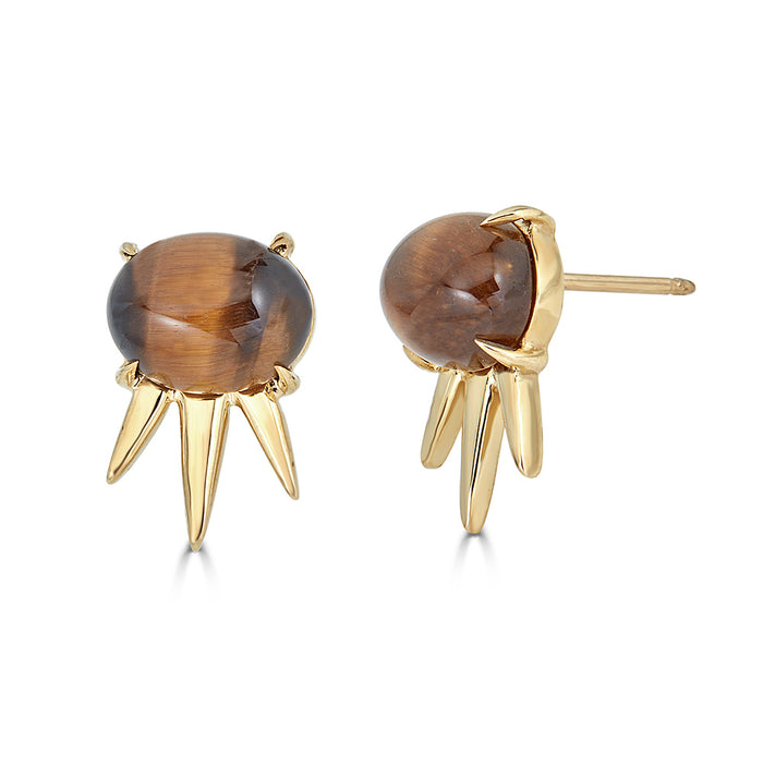 Aventine Spike Stud Tiger's Eye