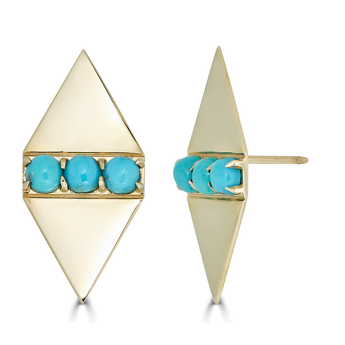 Holborn Studs in Turquoise