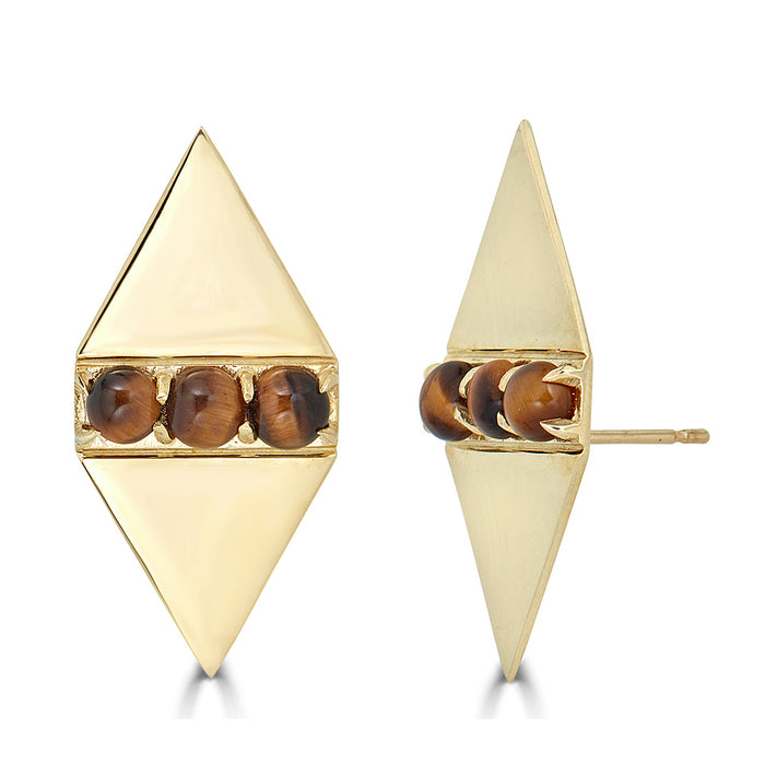 Holborn Studs in Tiger's Eye