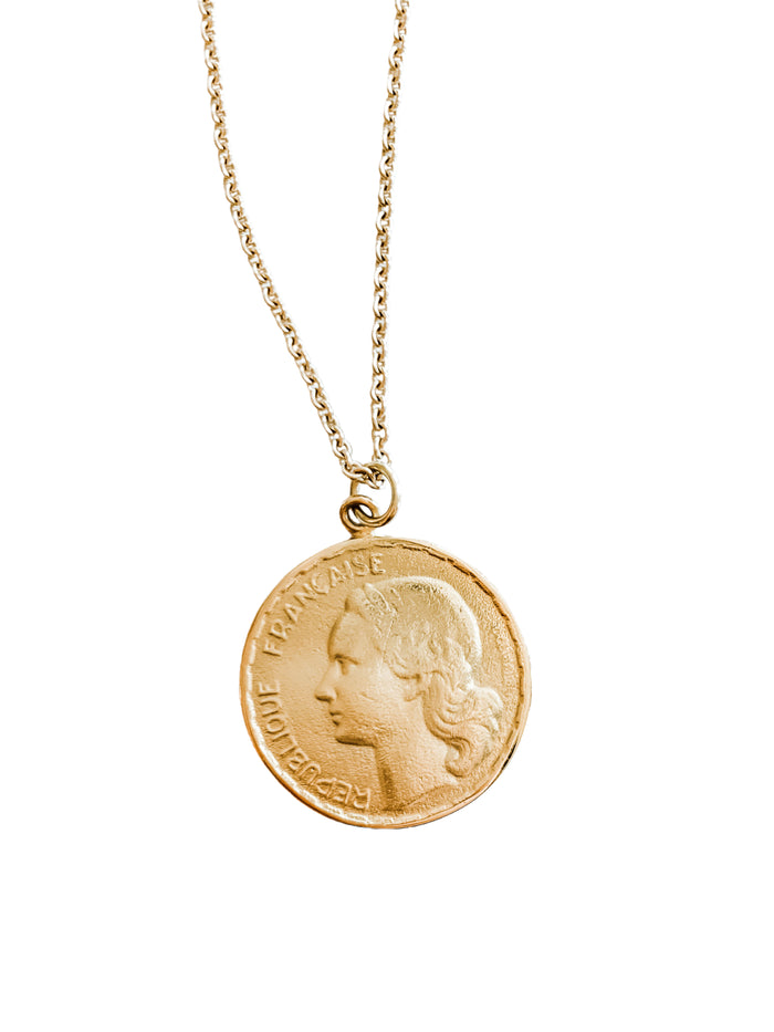 Marianne French Coin Pendant