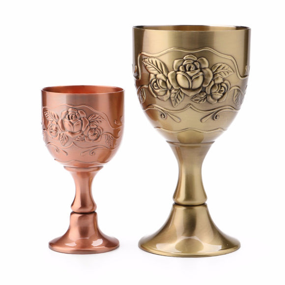 Pure Copper Engraving Wine Glass