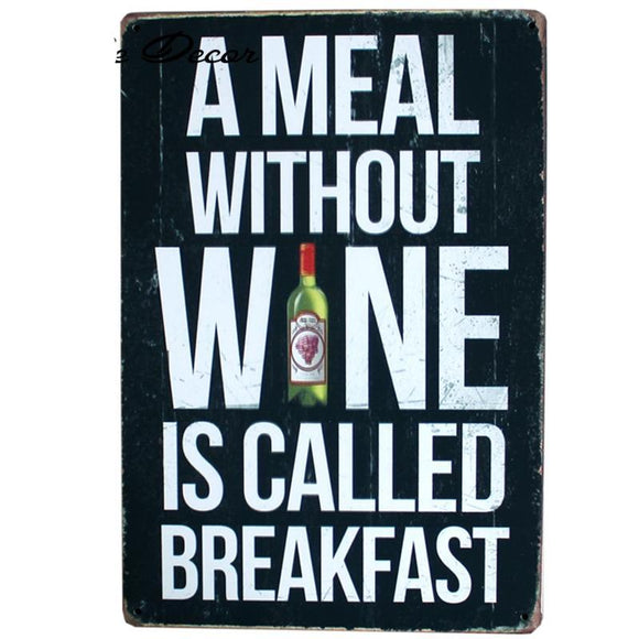 Wine Breakfast Wall Poster Online