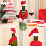 Woven Christmas Wine Bottle Gift Set