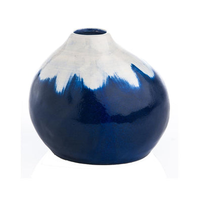 Indigo and White Vase