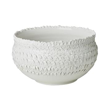 White Feathered Bowl