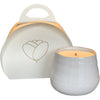 summer nights scented candle, size small, ceramic white
