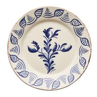 spanish plates, blue and white design, flower and shells design, home decor, kitchenware, two webster