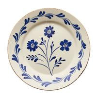 Blue and White Flower/Vines Spanish Plates/set of 2