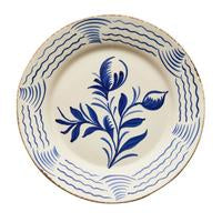 Blue and White Flower/Wave Spanish Plates/set of 2